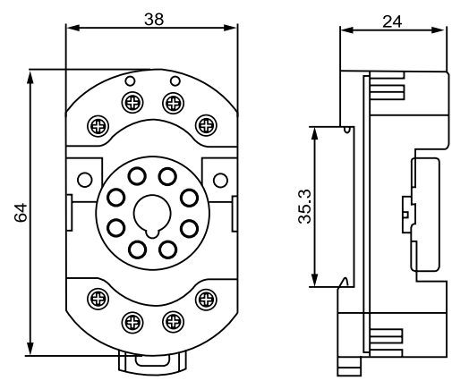 Relay Socket-90.22